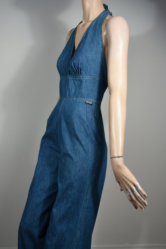 vintage 70s denim jumpsuit, denim jumpsuit, denim