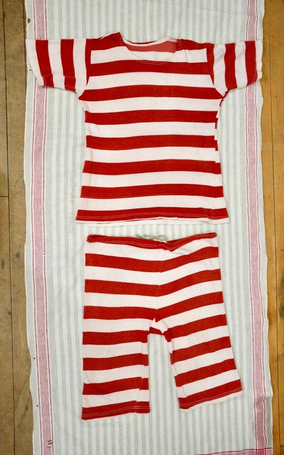 vintage 20s 30s 40s athletic striped bathing suit