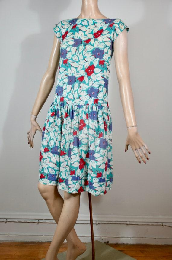 vintage Laura Ashley dress, vintage floral dress,