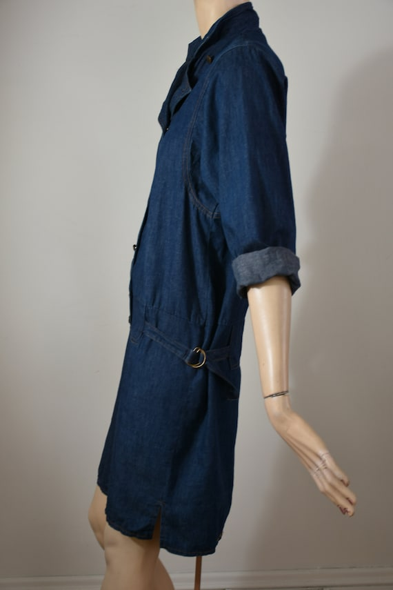 vintage 80s denim, 80s denim dress, denim dress, … - image 6