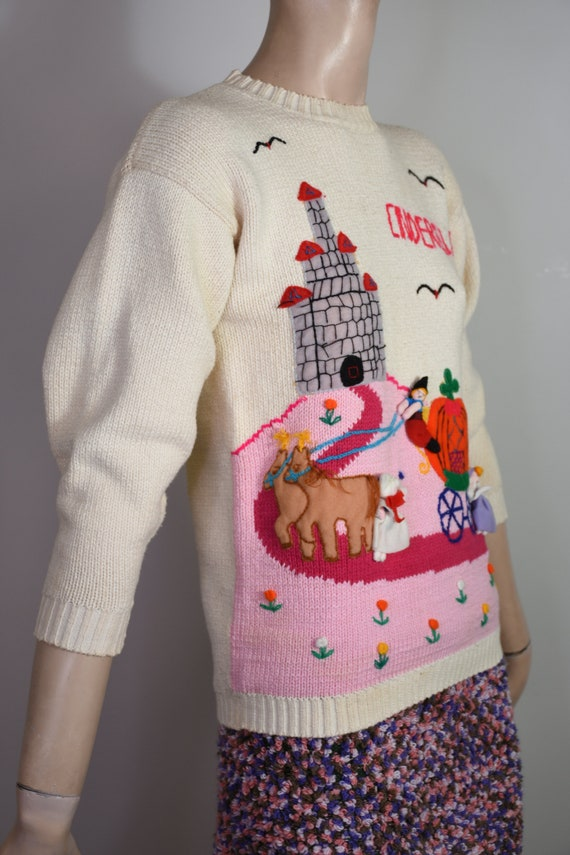 vintage 80s sweater, novelty knit, novelty sweate… - image 3