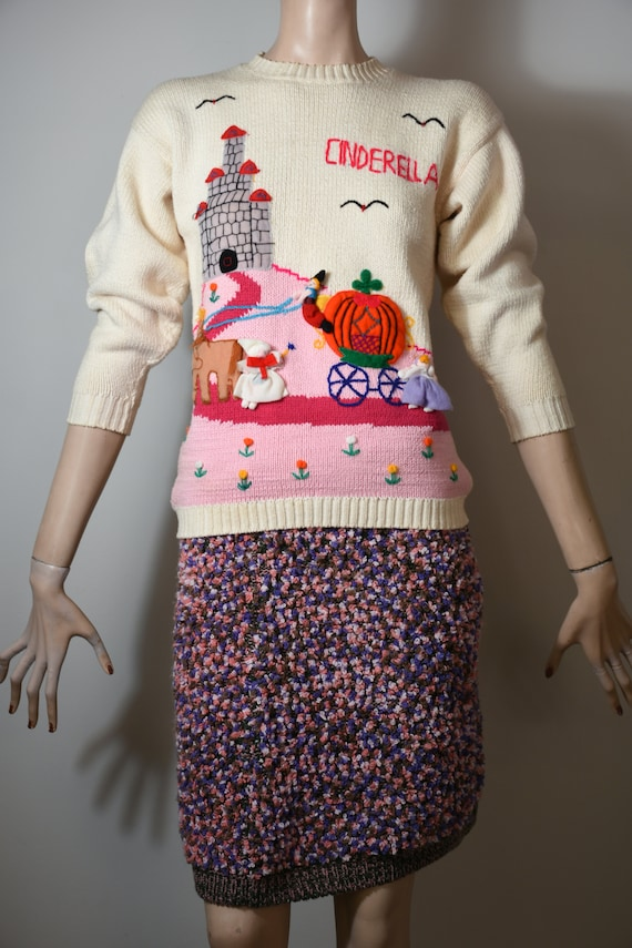 vintage 80s sweater, novelty knit, novelty sweate… - image 10
