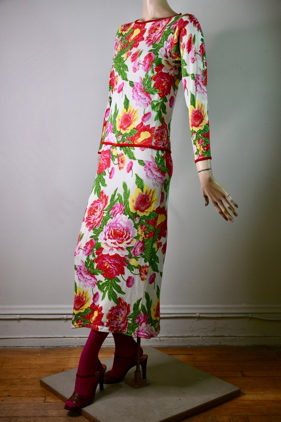 vintage KENZO, KENZO, floral dress, knit dress, to