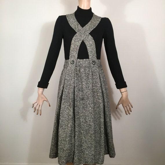 vintage DONALD BROOKS, 60s dress, knit dress, twee