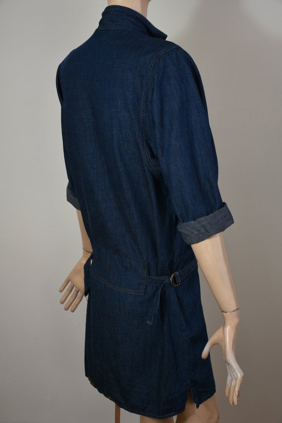 vintage 80s denim, 80s denim dress, denim dress, … - image 8