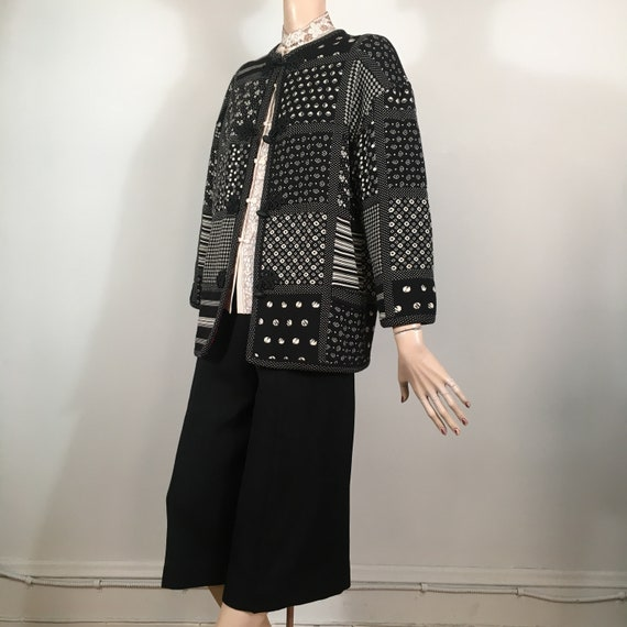 vintage Ungaro jacket, ungaro parallel, knit coat,
