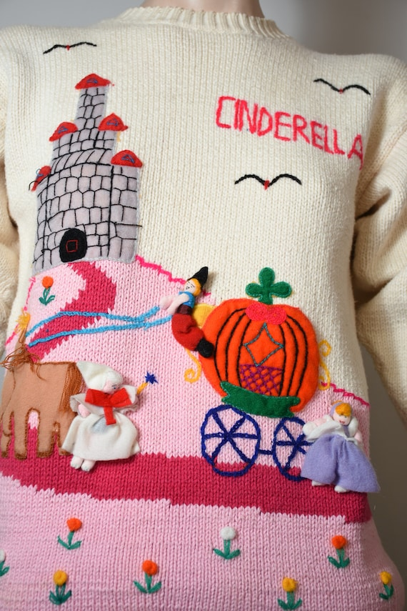 vintage 80s sweater, novelty knit, novelty sweate… - image 2