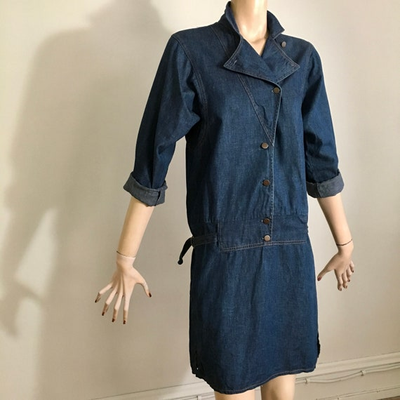 vintage 80s denim, 80s denim dress, denim dress, … - image 9