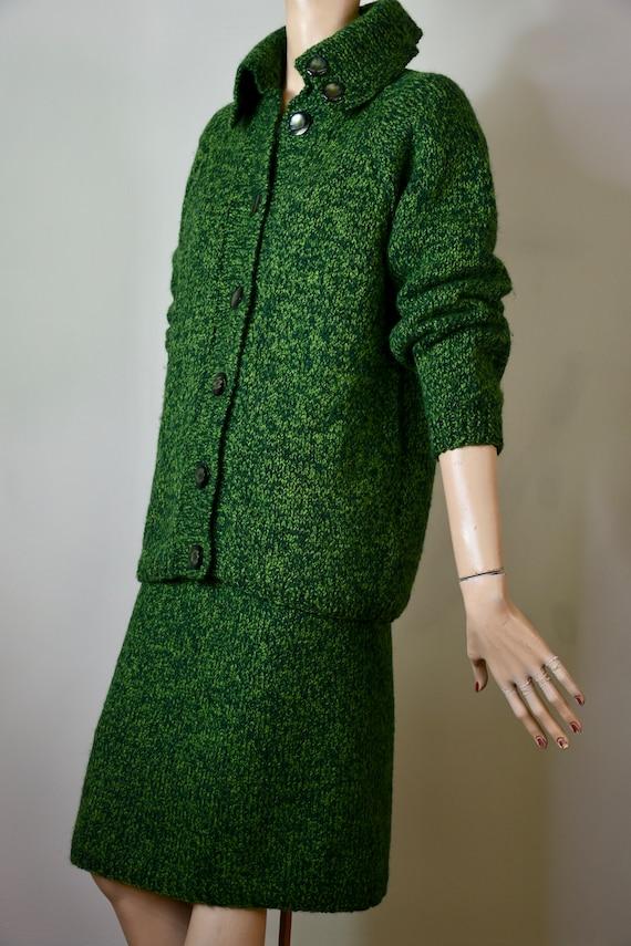 50s cardigan, 50s skirt, 50s knit, 60s knit, sweat