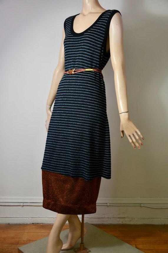 vintage Sonia Rykiel, 80s dress, knit dress, metal