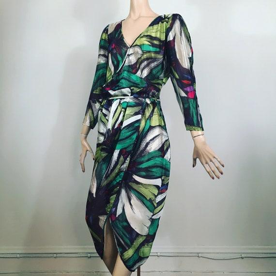 vintage MISSONI, 80s dress, 70s dress, silk dress,