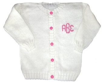 826e01c62a57 Monogrammed baby sweater