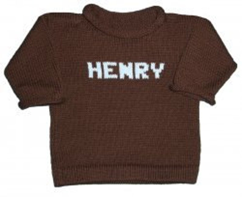 Custom Knits Name Pullover Sweater for Kids image 0