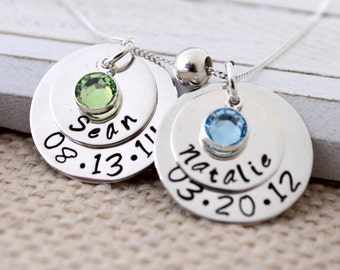 Personalized Necklace, Gift for Mom, Mothers Day Gift, Mommy Necklace, Hand Stamped Gift for New Mom, Mothers Necklace, New Mommy Jewelry