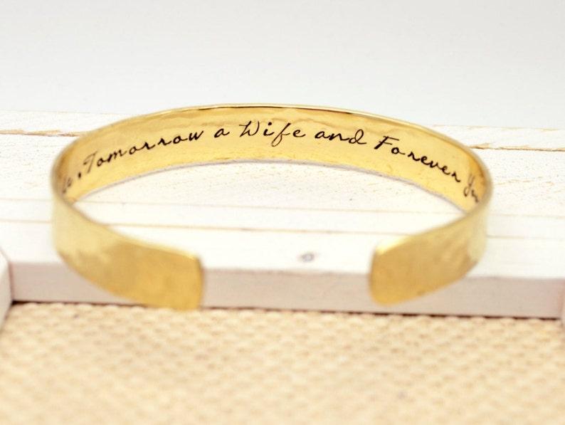 Mother of the Bride Gift Custom Cuff Bracelet Wedding Gift image 0