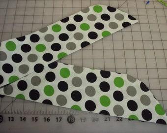 Polka dot hair tie--hair accessorie, free shipping