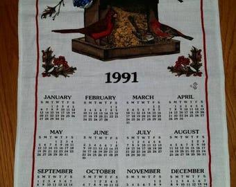 1991 Calendar Etsy