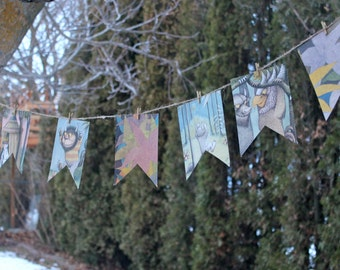 Where The WILD things are Banner Party Package Nursery baby shower birthday party