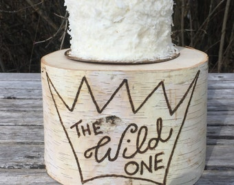 Birch Wood Rustic Cake Smash Cake Stand Photography Prop photo shoot, wild one, where the wild things are, boho Party