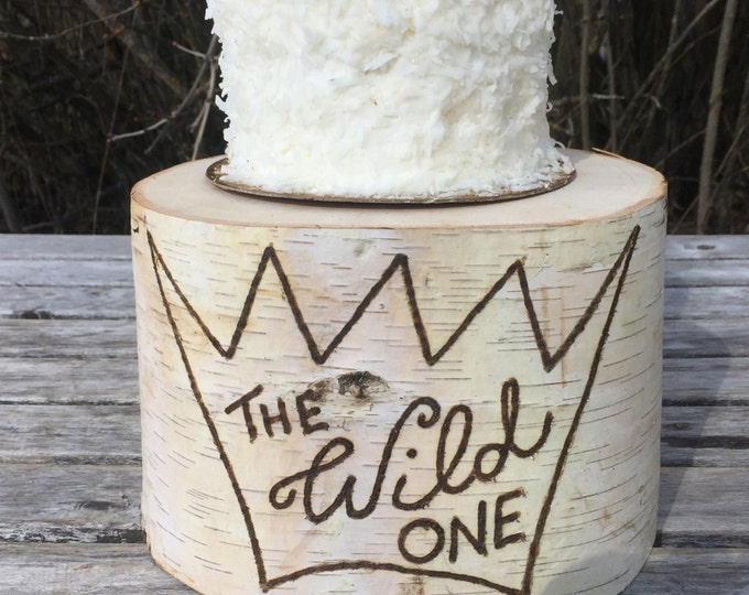 Featured listing image: Birch Wood Rustic Cake Smash Cake Stand Photography Prop photo shoot, wild one, where the wild things are, boho Party