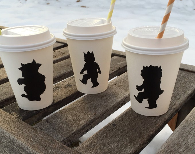 Featured listing image: WhEre The WILD things are Chalkboard Labels for hot cocoa bar or mason jars baby shower birthday party decorations decor favor decals