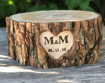 Large Log Willow Slab (16-17in) Cake Cupcake  Wedding party shower wooden, lumberjack party, boho party, live edge round