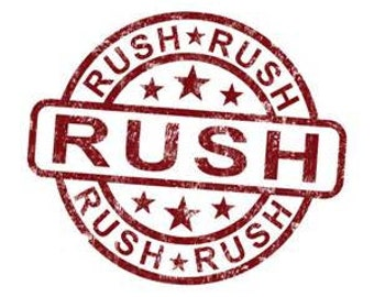 Rush Order Fee For Items processed within 7 days Or Larger Stands