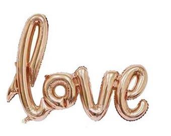 40 inch LOVE jumbo champagne rose gold foil balloons Balloon wedding bridal shower
