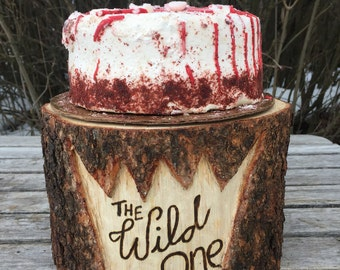 Pine Wood Rustic (8-9 in) Cake Smash Cake Stand Photography Prop photo shoot, wild one, where the wild things are, boho Party