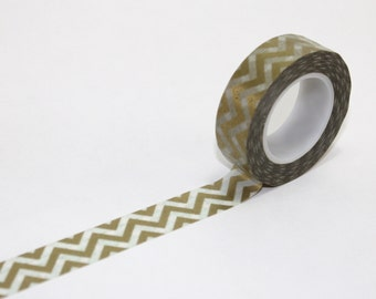 Metallic gold chevron WASHI crafting tape birthday party sailor decor wedding baby shower hot air balloon sailor
