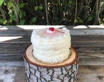 Large Log Wood Rustic Cake Smash Cake Stand Photography Prop photo shoot