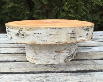 Large birch Log Wood Rustic Cake Cupcake Stand Wedding party shower wooden christmas entertaining wedding winter spring summer gift present