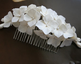 Hydrangea hair comb Bridal hair comb Hydrangea Bridal hair accessories Wedding hair accessories Flower Bridal headpiece Bridal hair flower