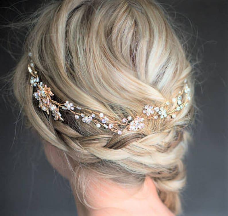Gold hair vine Wedding crown Gold Bridal crown Wedding hair accessories Bridal hair accessories Gold Crown Tiara