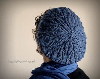 Principessa Beret, Hand Knitting Pattern (pdf download)