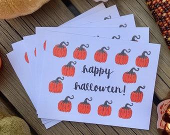 Handmade Happy Halloween Cards, Halloween Card, Pumpkin Halloween Card, Happy Halloween, Spooky Cards, Halloween Card Set, Pumpkin Fall Card