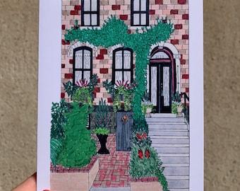 Stoops of Fairmount Cards, Fairmount Philadelphia Art, Philadelphia Art, Fairmount Art, Philly Art, Notecards, City Row Home Art, PHL Art