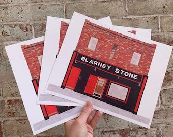 "Blarney Stone Philadelphia Art, 8""x10"" Philly Print, West Philly Print, West Philadelphia Bar, Philly Art, University City Philly Art Print"