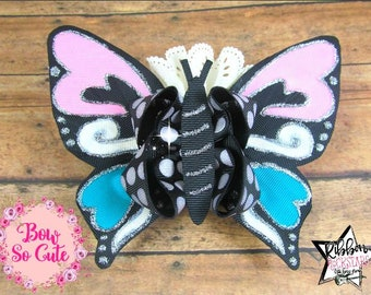 Boutique Bow - Butterfly - OTT Bow - Girls Hair Accessories - Silhouette - boutique