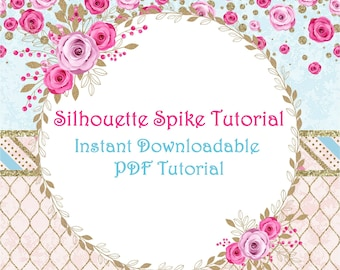 Silhouette Tutorial - DIY - PDF File - How to turn plain bow spikes into image silhouettes - OTT - boutique bows