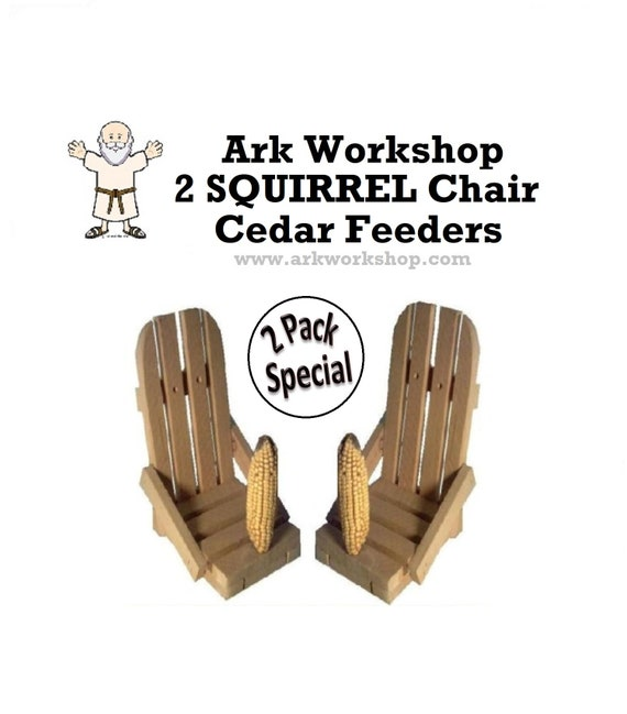 Squirrel Feeder Double Chair with Corn