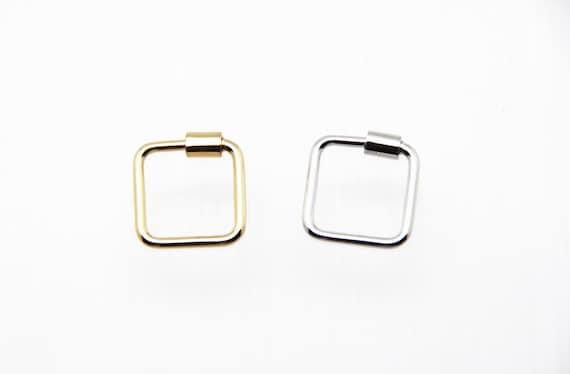 Plain Brass 18mm Square Screw Clasp Carabiner