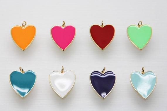 Enamel 22x26mm Heart Pendant