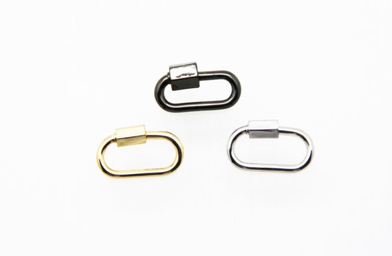 Plain Brass 11x20mm Oval Screw Clasp Carabiner