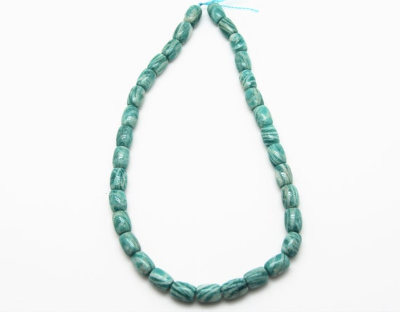 "Russian Amazonite 9x12 Drum beads 16"" length full strand"