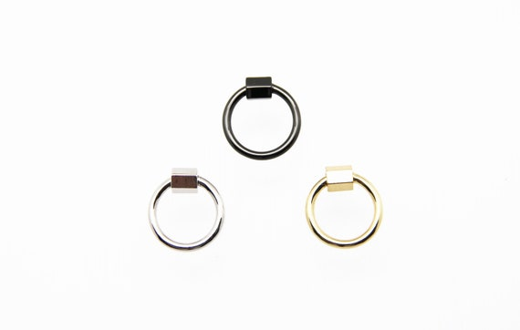 Plain Brass 20mm Circle Screw Clasp Carabiner
