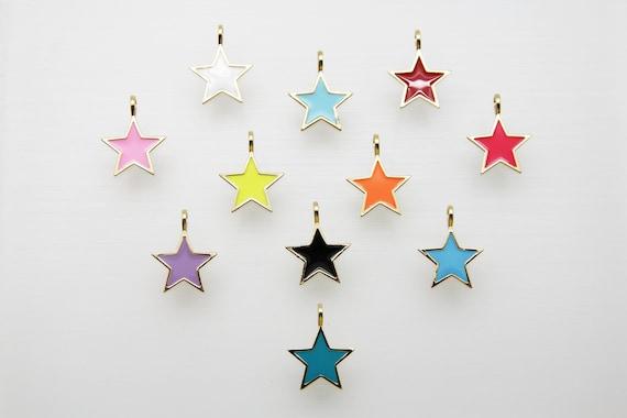 Enamel 20mm Star Pendant