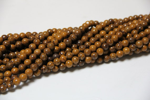 "Oak Jasper 8mm smooth round beads 16"" length full strand"