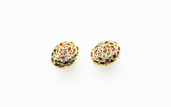 Mix Color CZ Micro Pave 16x19mm  Free Form CZ Oval Beads