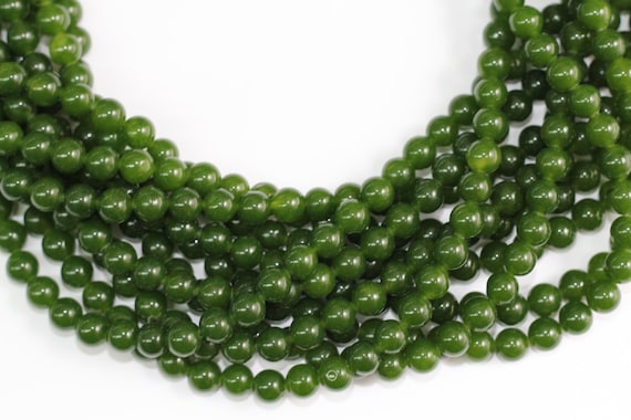 "Taiwan Jade(dyed) 8mm smooth round beads 16"" length full strand"